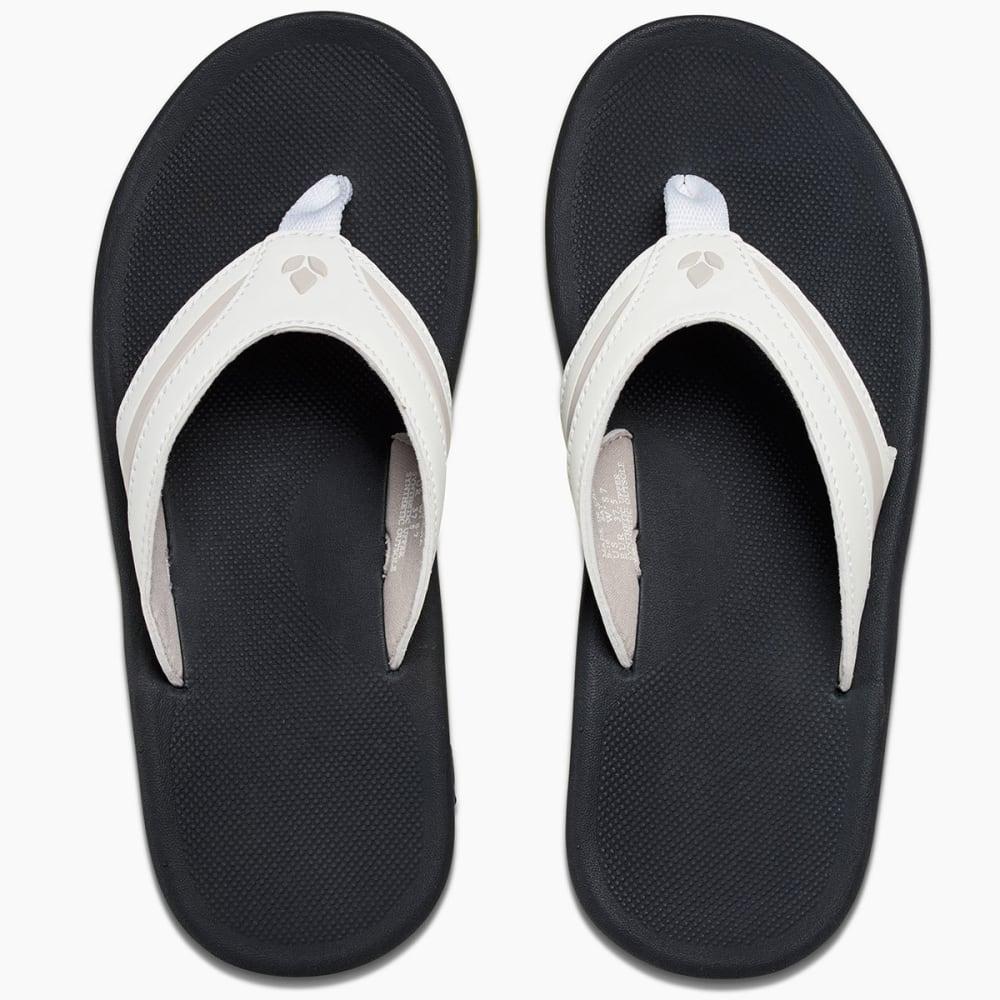 REEF Women's Slap 3 Flip Flops, White/Lime - WHITE/LIME