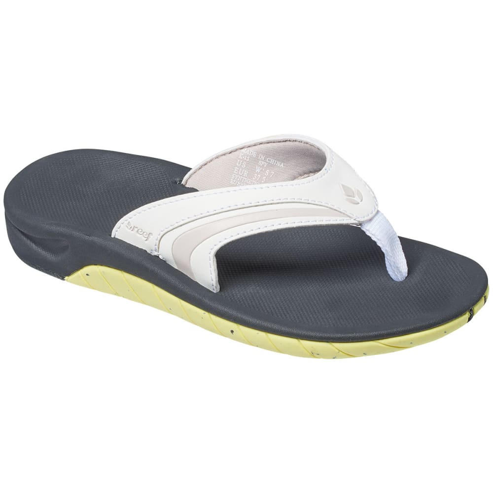 REEF Women's Slap 3 Flip Flops, White/Lime - WHITE/LIME