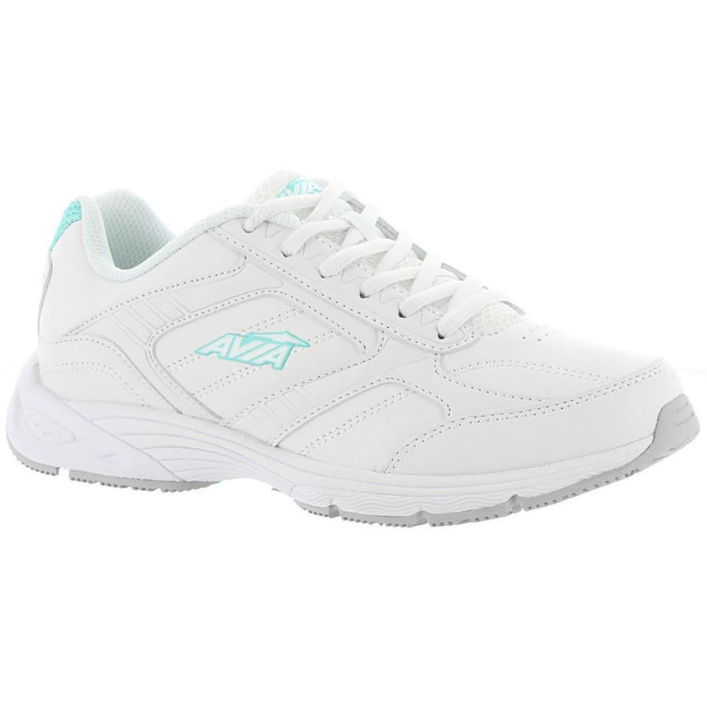 AVIA Women's Avi-Ginger Walking Shoes, Wide - WHITE