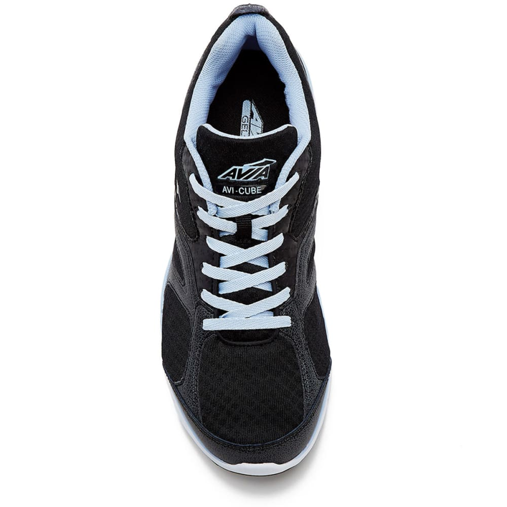 AVIA Women's Avi-Cube Running Shoes, Black/Blue, Wide - BLACK