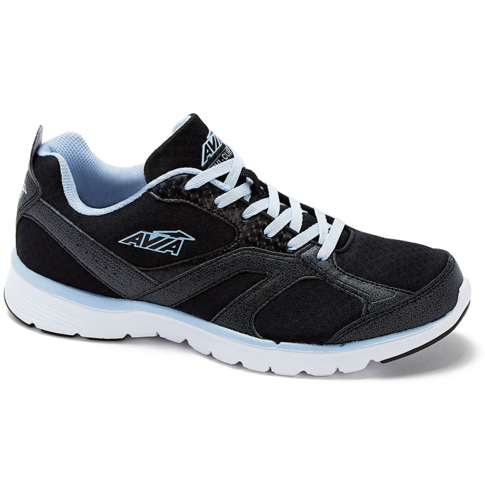 Avia Women's Avi-Cube Running Shoes, Black/blue, Wide