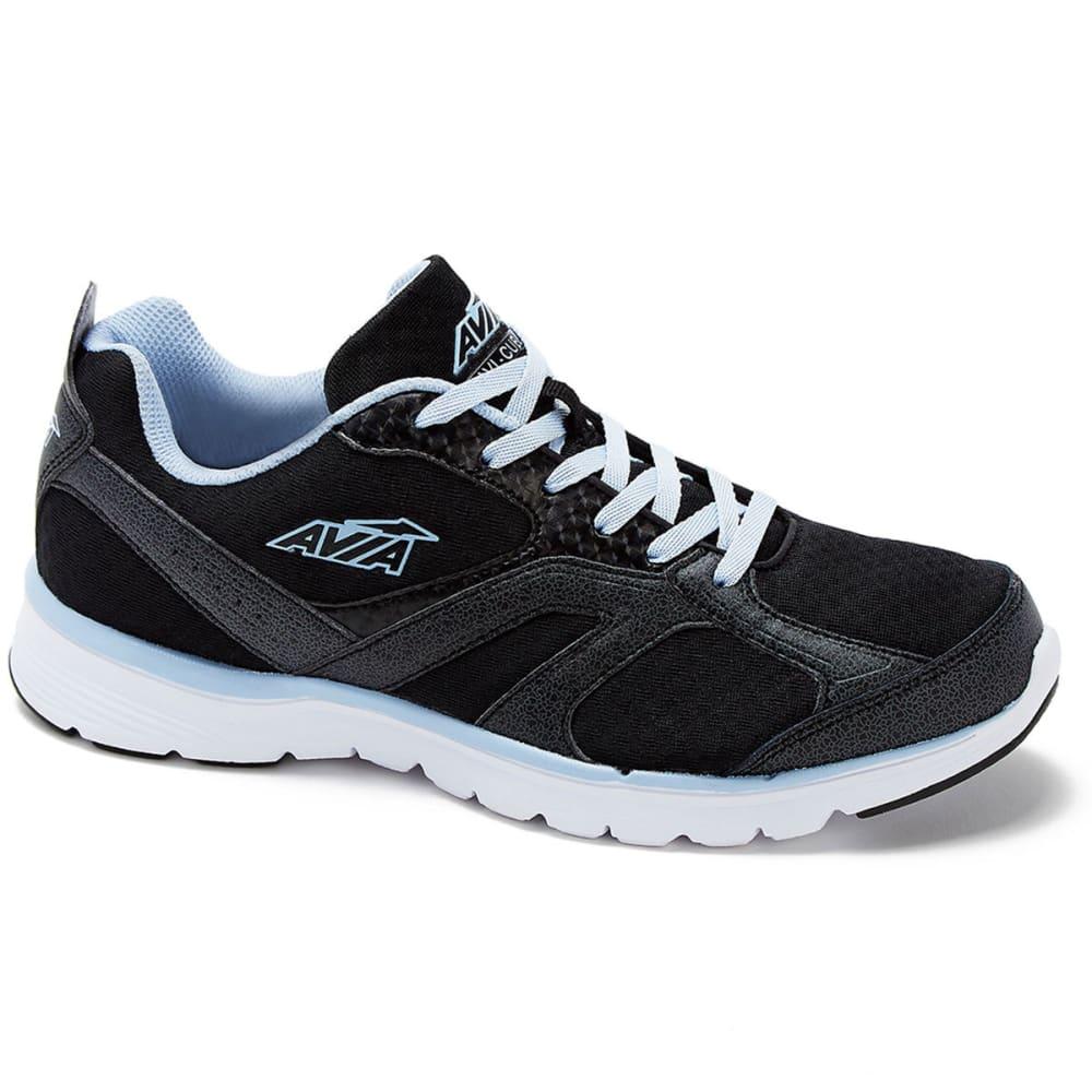 AVIA Women's Avi-Cube Running Shoes, Black/Blue, Wide 6
