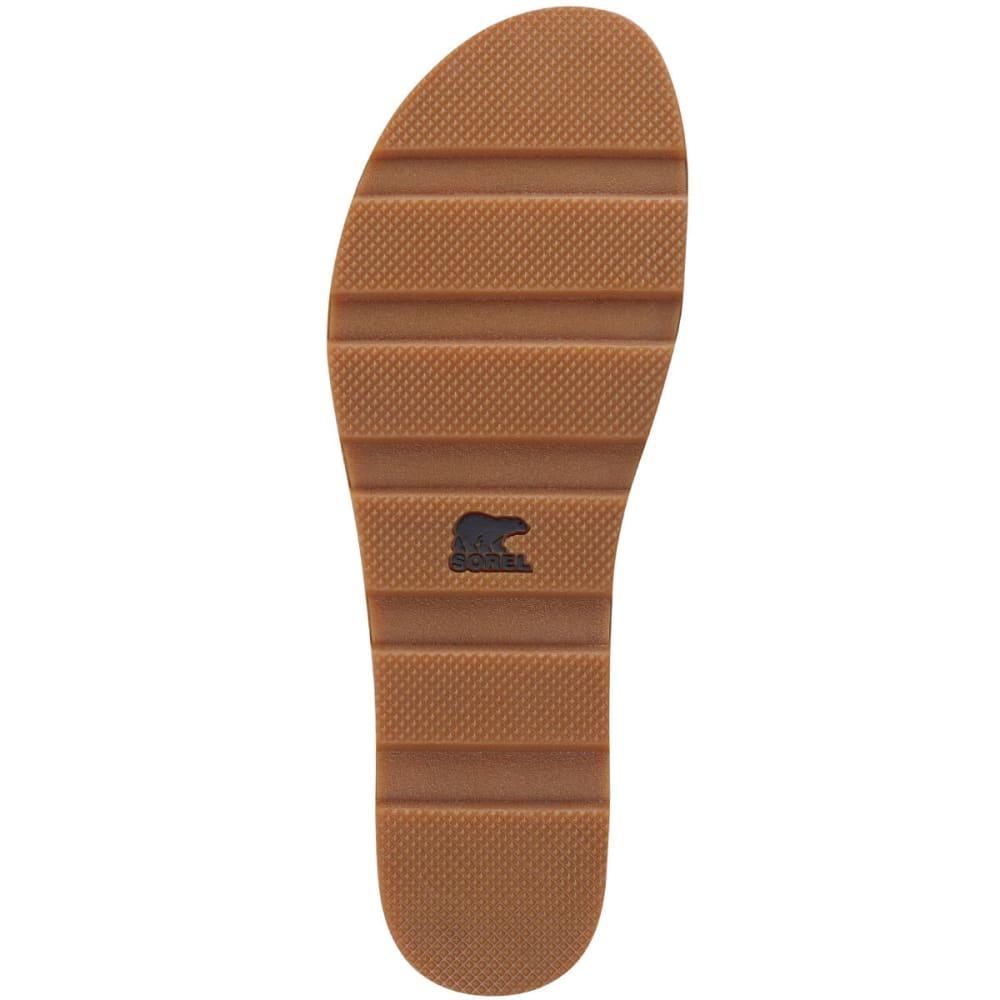 SOREL Women's Torpeda Sandals, Rustic Brown/Fossil - BLACK