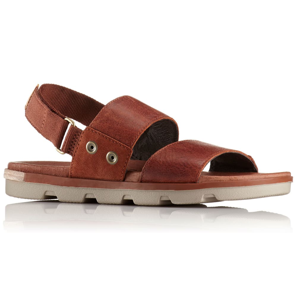 SOREL Women's Torpeda Sandals, Sahara/Fossil - RUSTIC BROWN