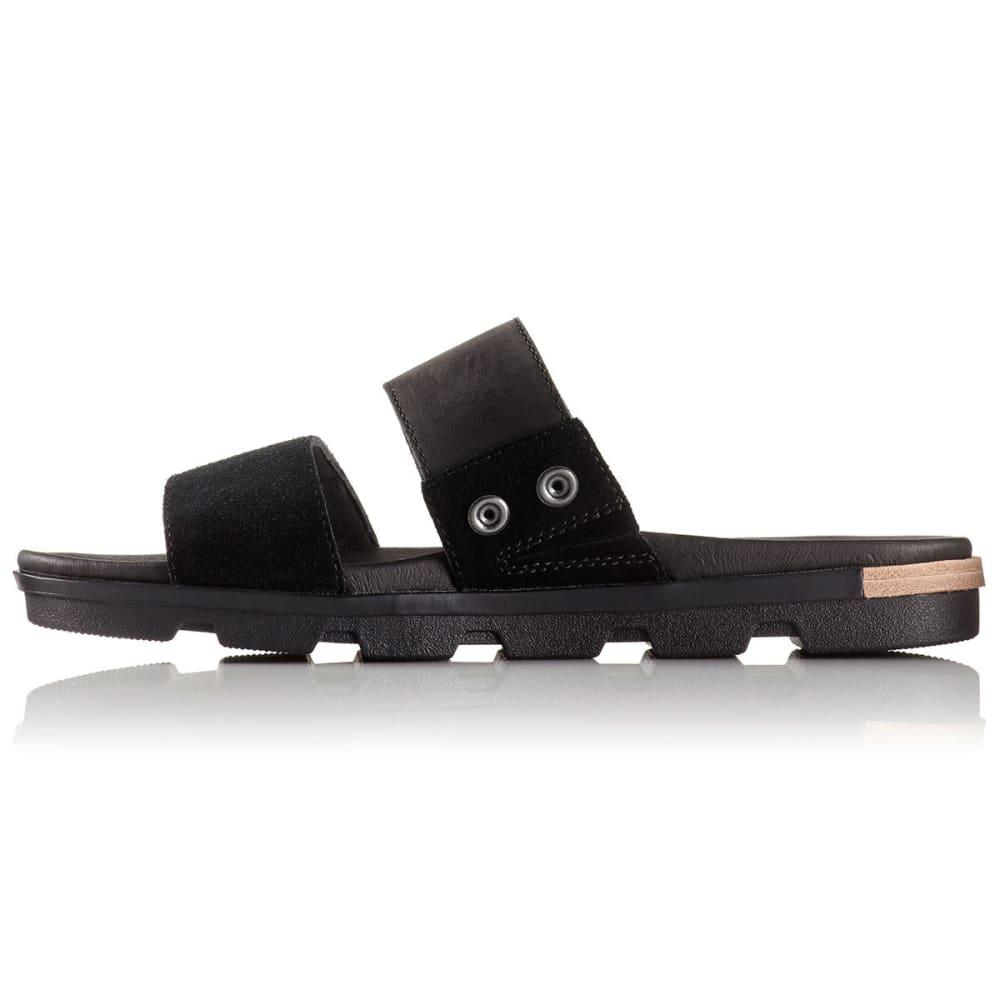 SOREL Women's Torpeda II Slide Sandals, Black/White - BLACK