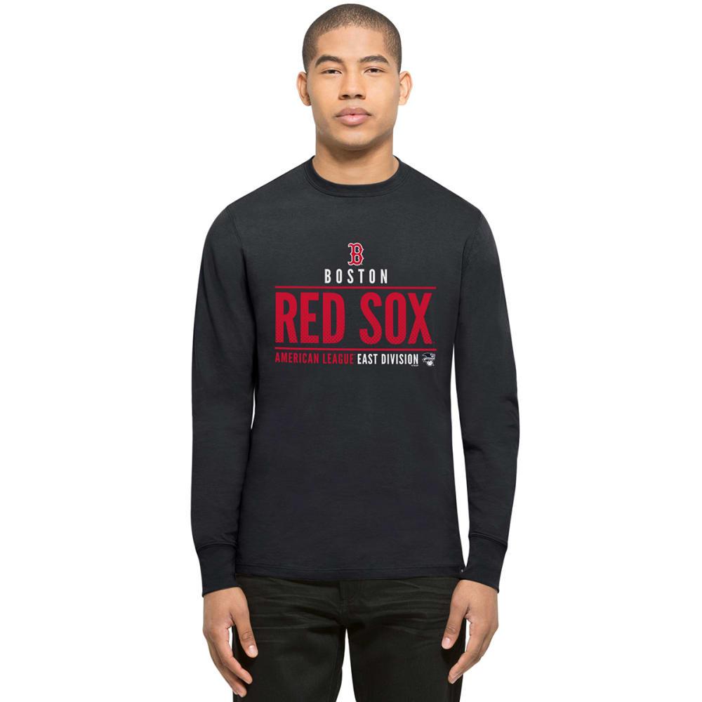 BOSTON RED SOX Men's '47 Splitter Long-Sleeve Tee - NAVY