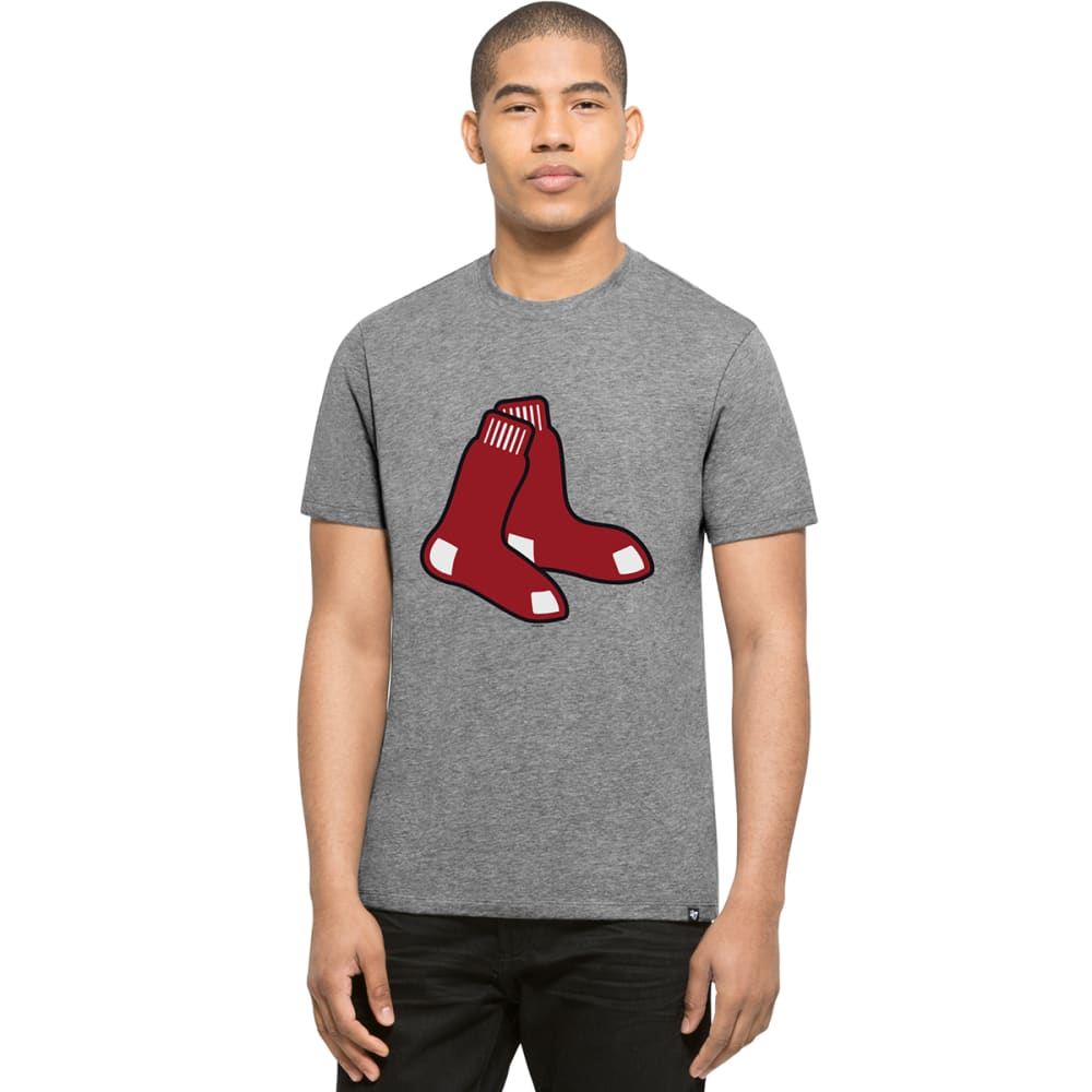 BOSTON RED SOX Men's '47 Club Logo Short-Sleeve Tee - CHARCOAL