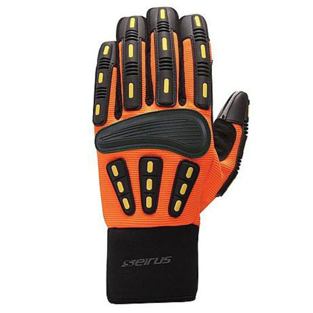 SEIRUS Men's Workman Gripper Gloves - HI VIS ORANGE