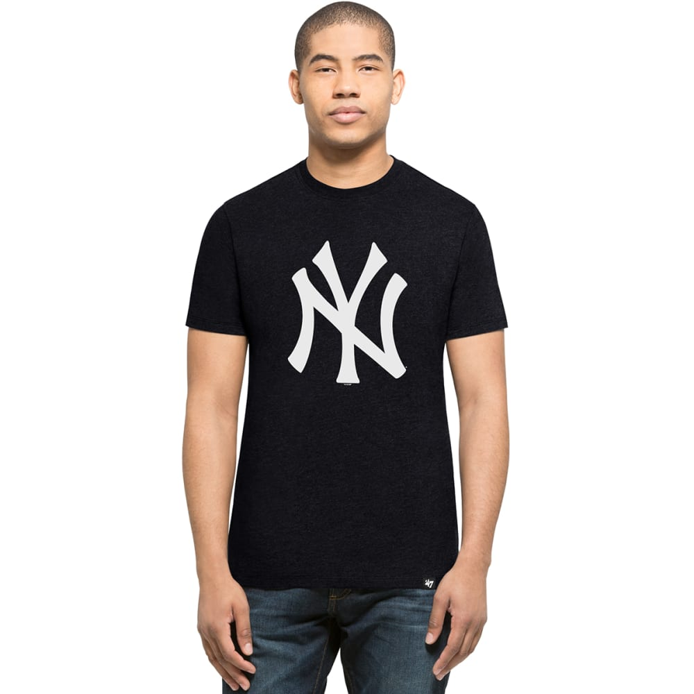 NEW YORK YANKEES Men's '47 Club Logo Short-Sleeve Tee - NAVY