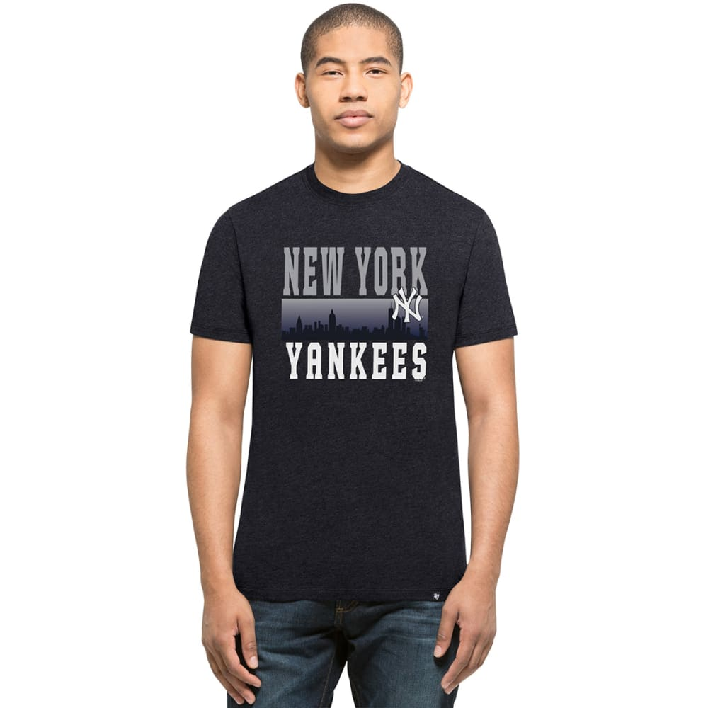 NEW YORK YANKEES Men's Skyline '47 Club Short-Sleeve Tee - CHARCOAL