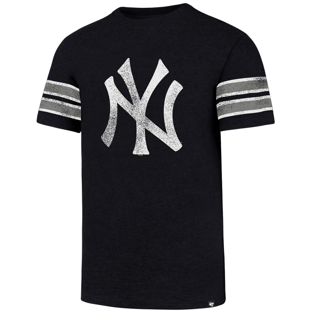 NEW YORK YANKEES Men's '47 Knockaround Stripe Short-Sleeve Tee - NAVY