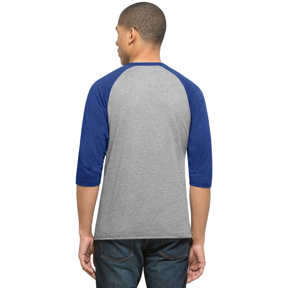 NEW YORK METS Men's '47 Club Raglan 3/4 Sleeve Tee - GREY/ROYAL