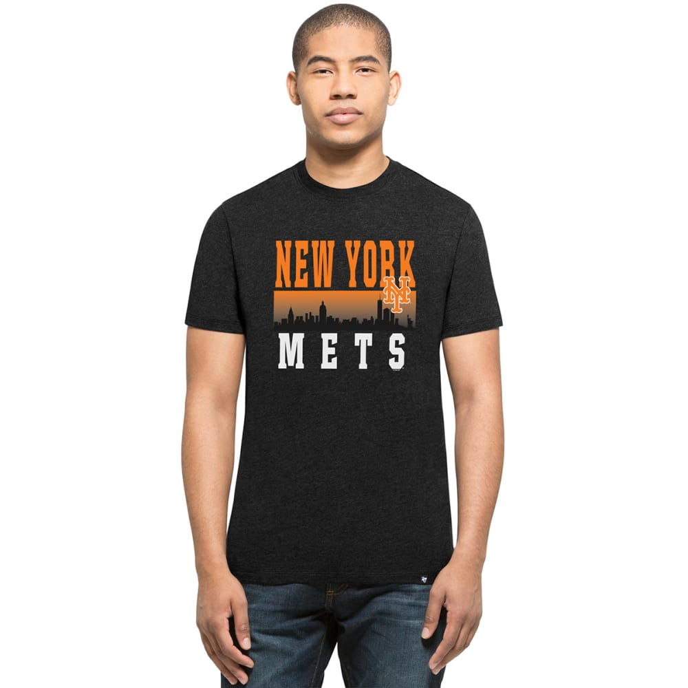 NEW YORK METS Men's '47 Skyline Club Short-Sleeve Tee - BLACK