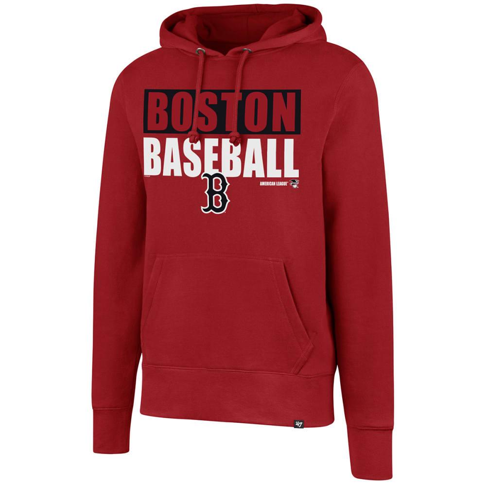 BOSTON RED SOX Men's '47 Headline Pullover Fleece Hoodie - RED