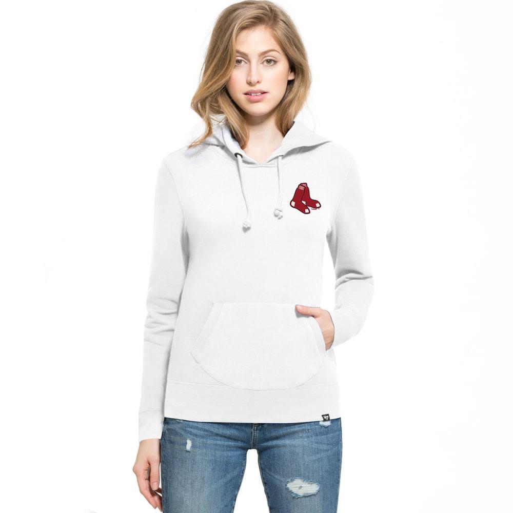 BOSTON RED SOX Women's '47 Rundown Fleece Pullover Hoodie - WHITE