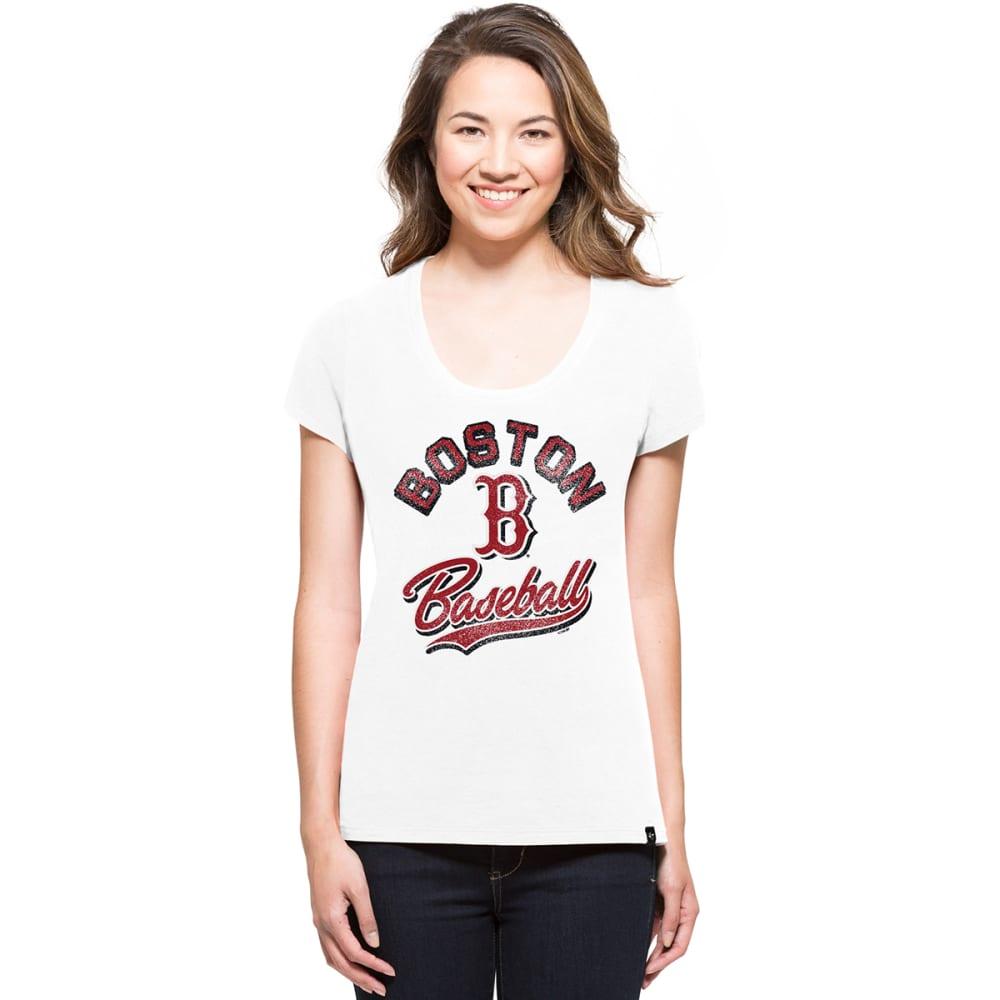BOSTON RED SOX Women's Knockaround 47 Splitter V-Neck Short-Sleeve Tee - WHITE