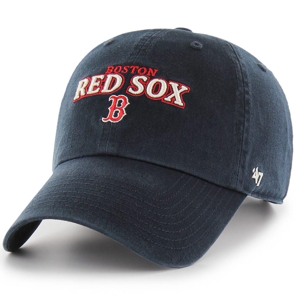 BOSTON RED SOX Men's Yakker '47 Clean Up Adjustable Cap - NAVY