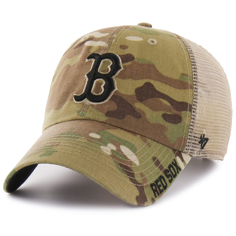 BOSTON RED SOX Men's Jericho '47 Clean Up Camo Hat ONE SIZE