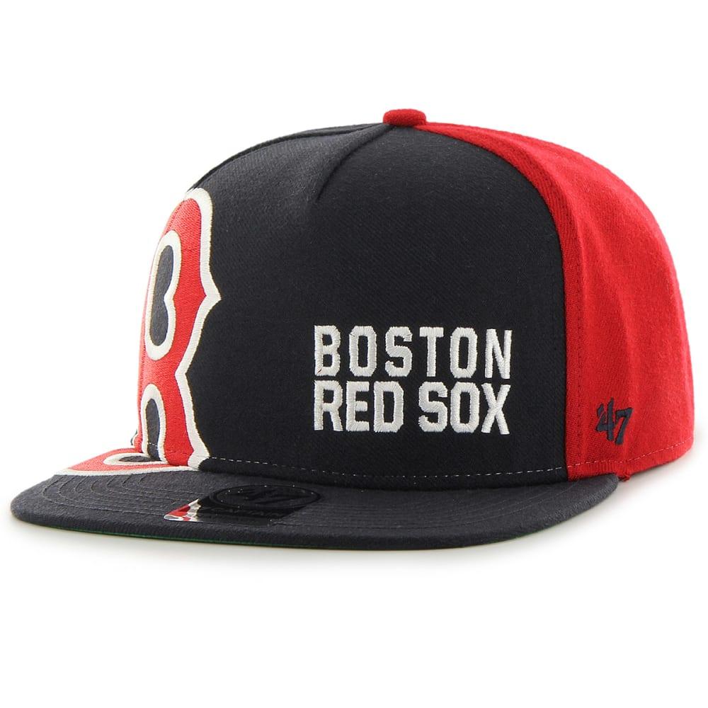 BOSTON RED SOX Men's '47 Outer Edge Big Logo Snapback Hat - NAVY