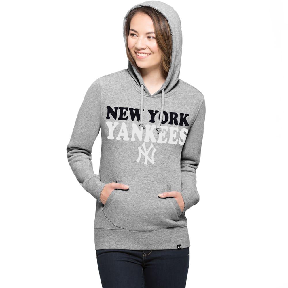 NEW YORK YANKEES Women's '47 Headline Pullover Fleece Hoodie - GREY
