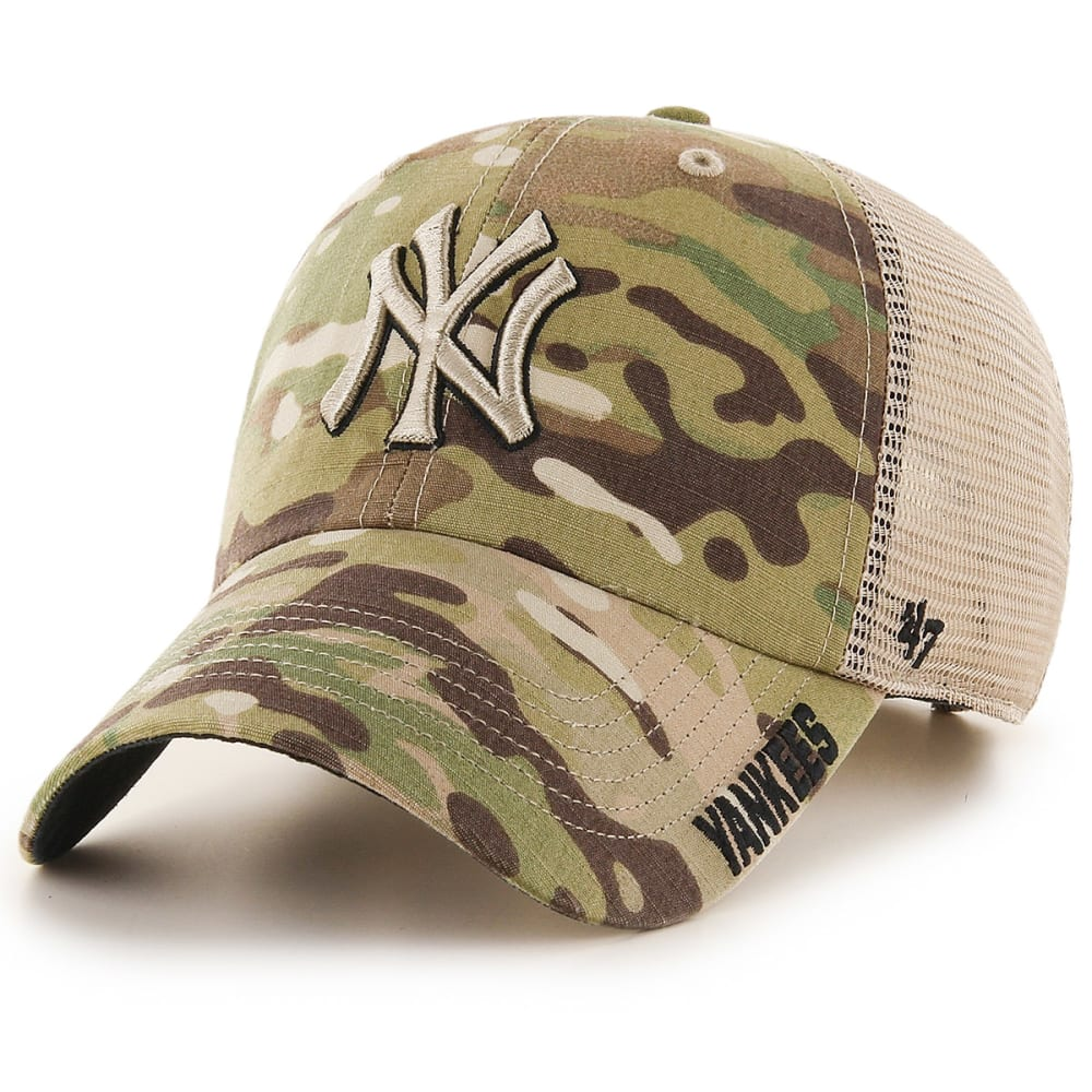 NEW YORK YANKEES Men's Jericho '47 Clean Up Camo Hat - BEIGE-TAN