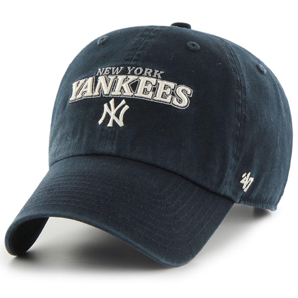 NEW YORK YANKEES Men's Yakker '47 Clean Up Adjustable Cap - NAVY