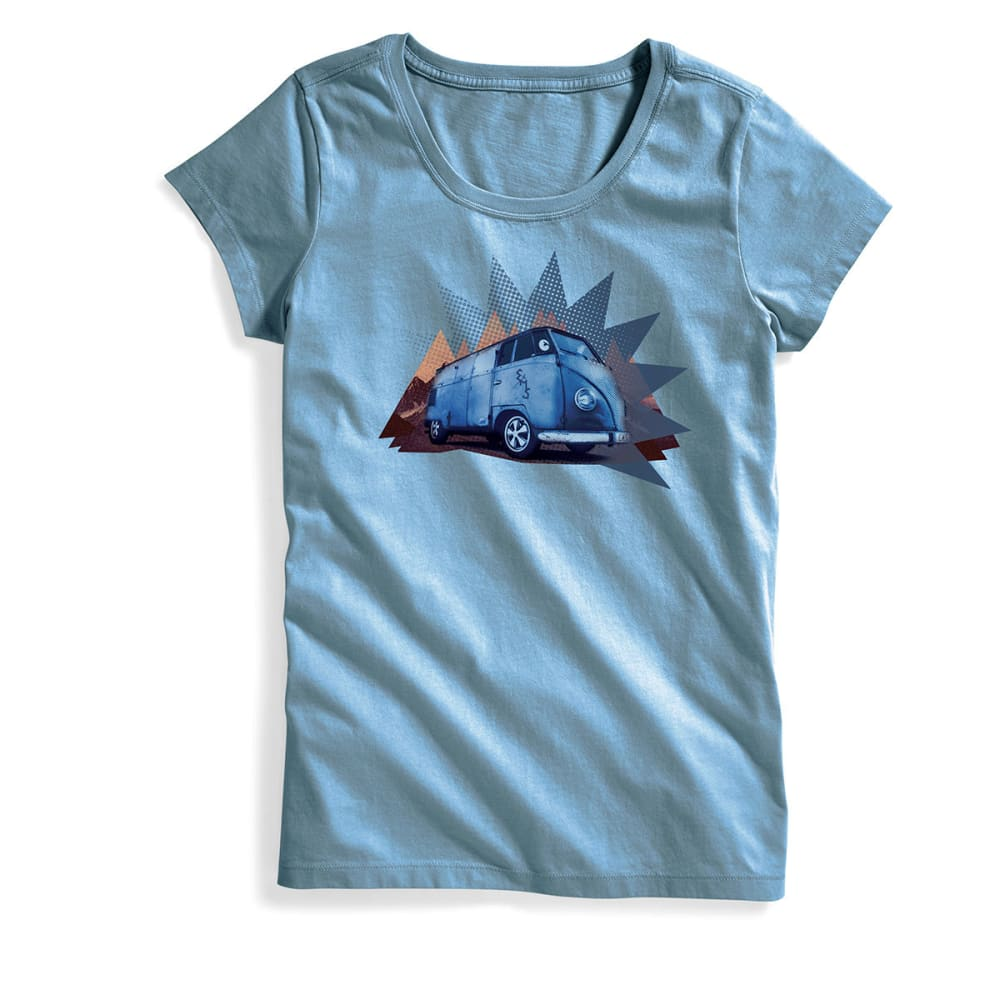 EMS Women's Take the Bus Graphic Tee - FADED DENIM