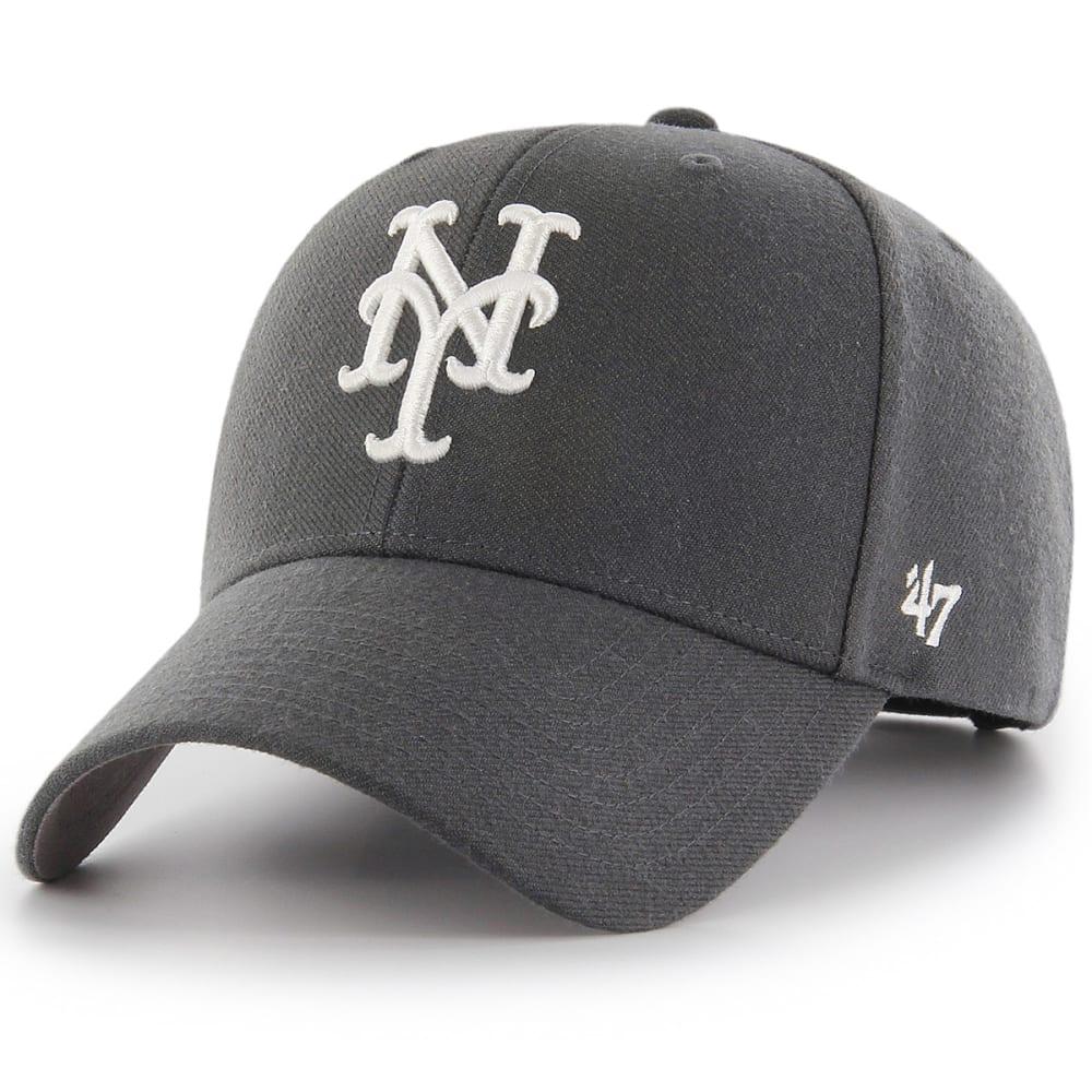 NEW YORK METS Men's '47 MVP Adjustable Cap - CHARCOAL