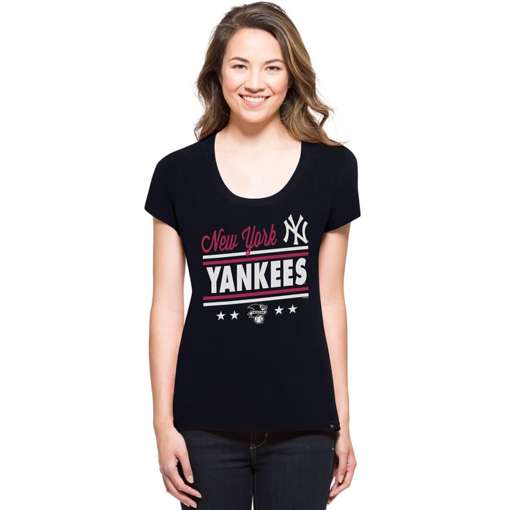 NEW YORK YANKEES Women's '47 Splitter Short-Sleeve Tee - NAVY