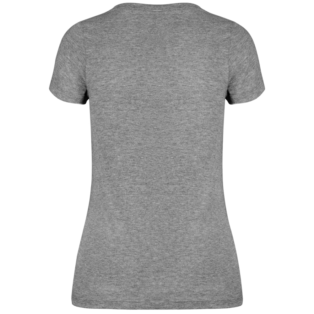 NEW YORK METS Women's '47 Ultra Clutch V-neck Short-Sleeve Tee - GREY