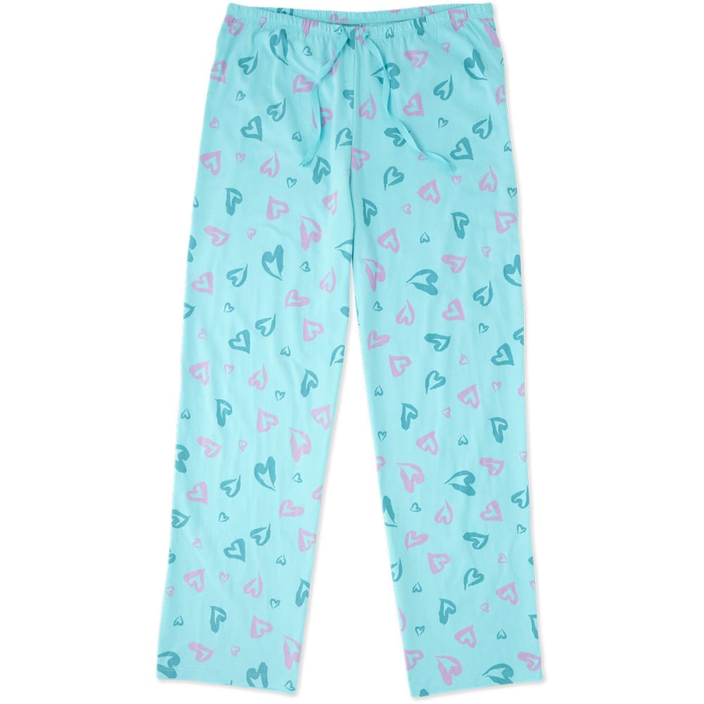 LIFE IS GOOD Women's Heart Jersey Sleep Pants - FRESH BLUE