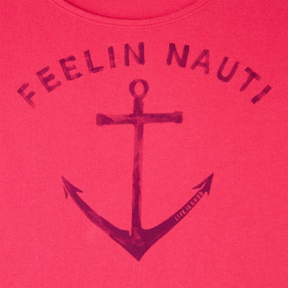 LIFE IS GOOD Women's Feelin Nauti Sleep Tee Dress - POP PINK