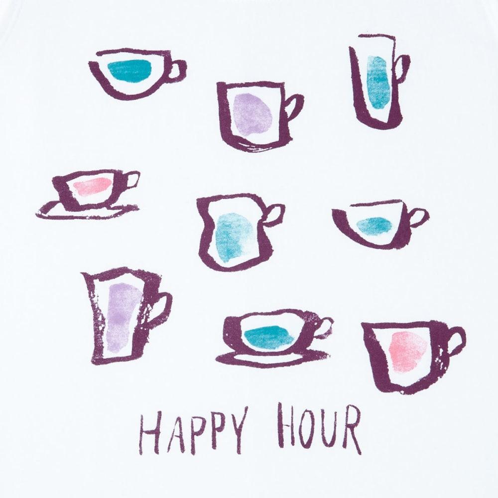 LIFE IS GOOD Women's Happy Hour Dreamer Sleep Tank Top - CLOUDY WHITE