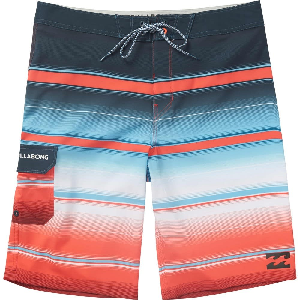BILLABONG Guys' All Day X Stripe Boardshorts - RED-RED