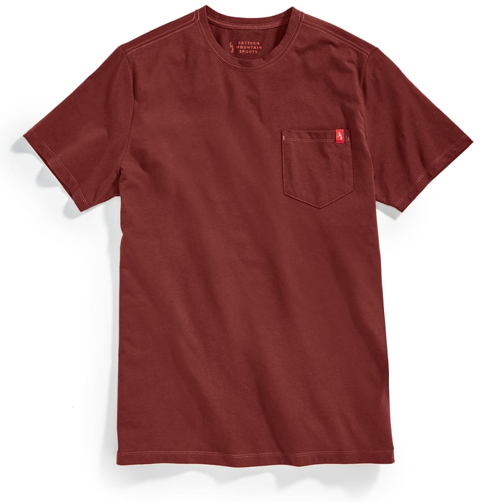 Ems Men's Simple Pocket Short-Sleeve Tee - Red, S