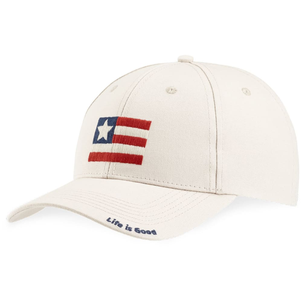 LIFE IS GOOD Women's Flag High-Rise Chill Cap - BONE