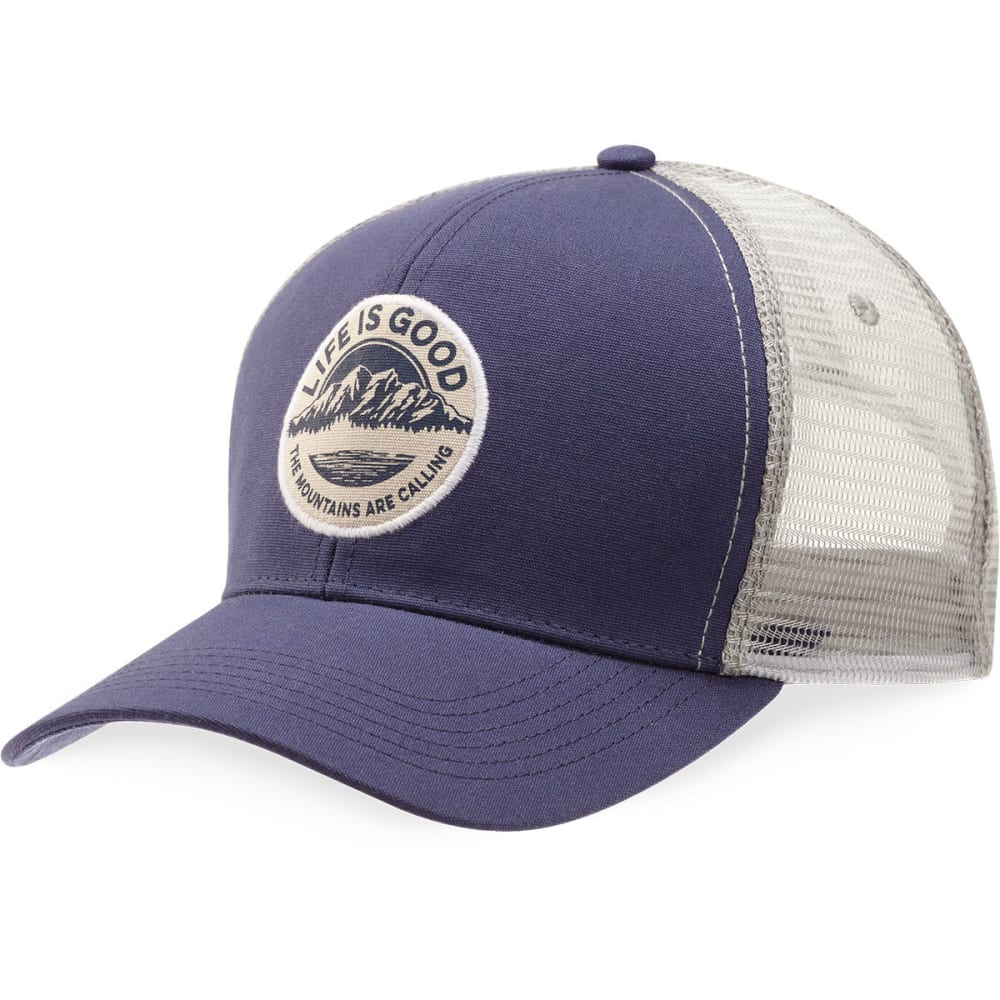 LIFE IS GOOD Mountain Hard Mesh Back Chill Cap - DARKEST BLUE