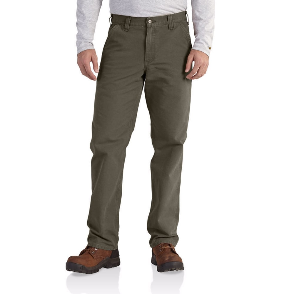 CARHARTT Men's Washed Duck Relaxed-Fit Dungarees - MOSS 316-DROP