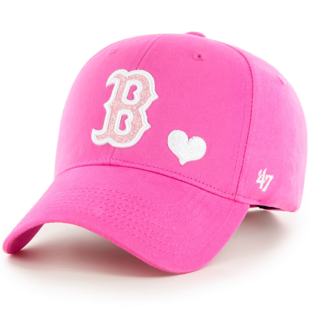 BOSTON RED SOX Girls' Sugar Sweet MVP Adjustable Cap - PINK