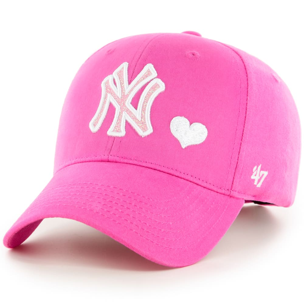 NEW YORK YANKEES Girls' Sugar Sweet '47 MVP Adjustable Cap - PINK