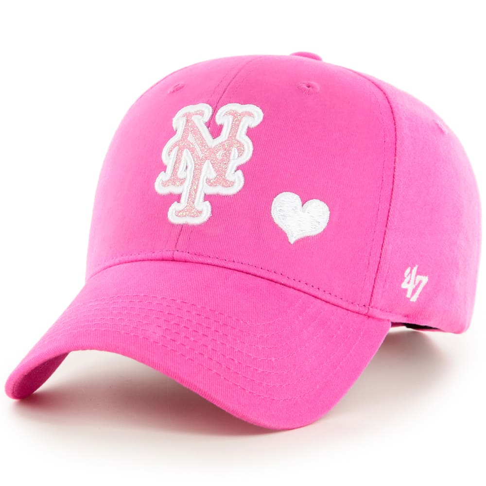 NEW YORK METS Girls' Sugar Sweet 47 MVP Adjustable Cap - PINK