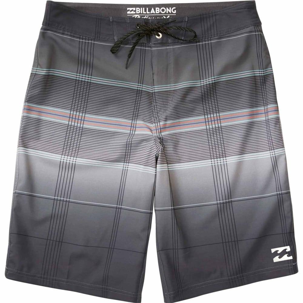 BILLABONG Guys' All Day X Plaid Boardshorts - BLK-BLACK