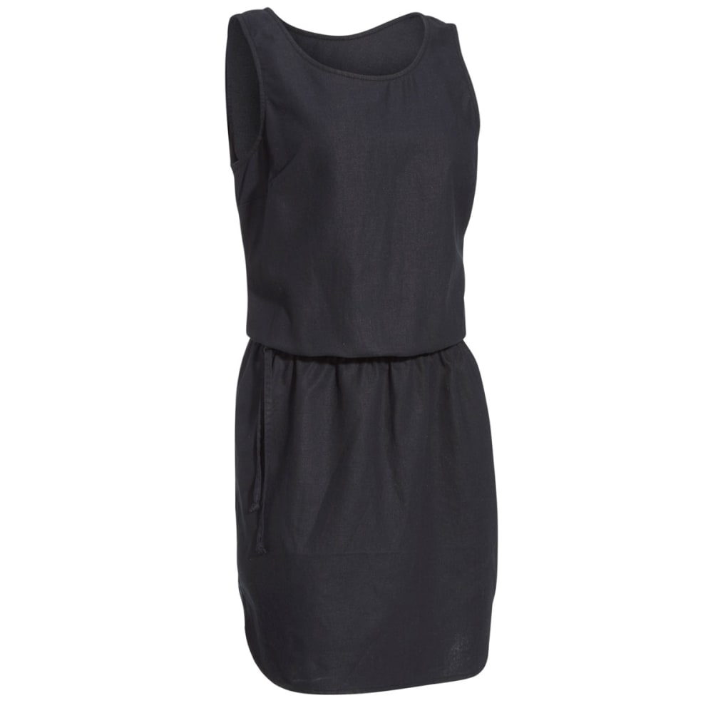 Ems Women's Cambric Linen Dress - Black, L