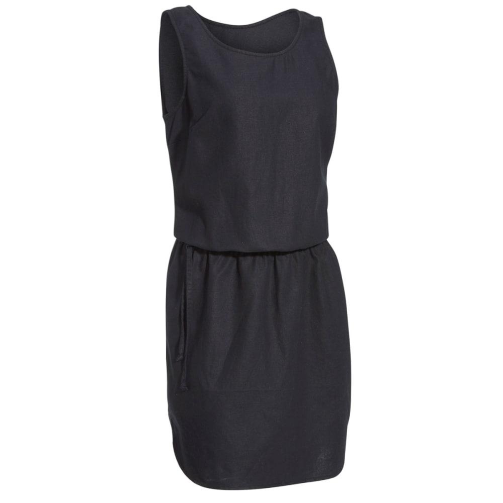 EMS Women's Cambric Linen Dress - BLACK