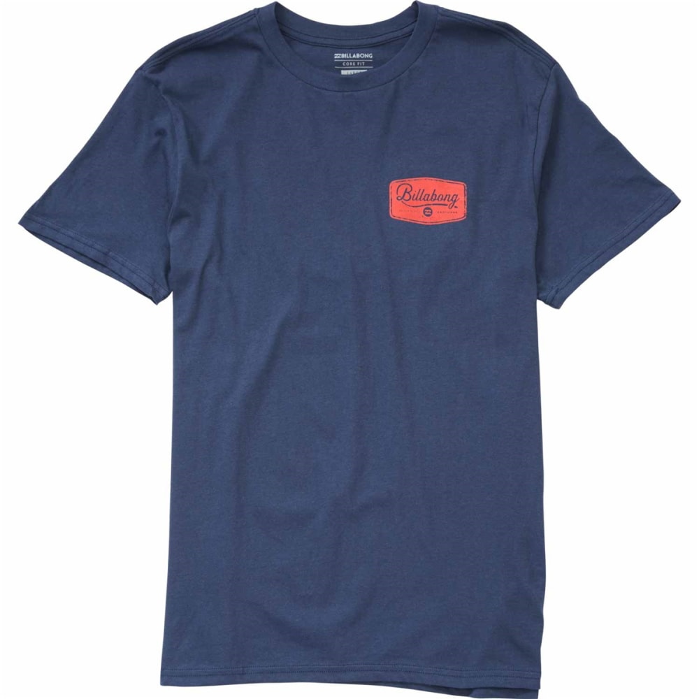 Billabong Guys Pitstop Short-Sleeve Tee - Blue, S