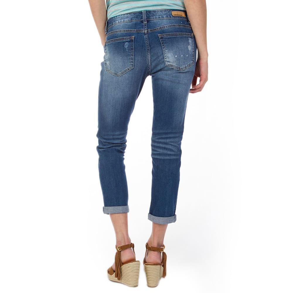 UNIONBAY Juniors' Margot Destructed Vintage Peg Jeans - 454J COVE DENIM