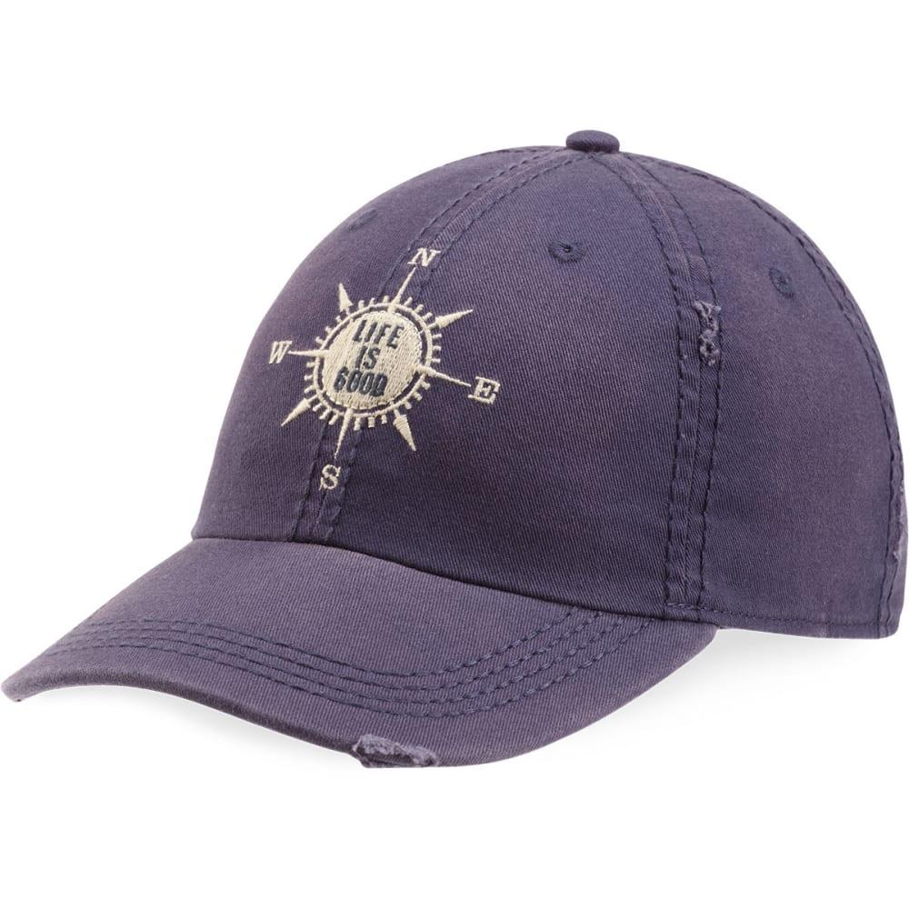LIFE IS GOOD Women's Compass Sunwashed Chill Cap - DARKEST BLUE
