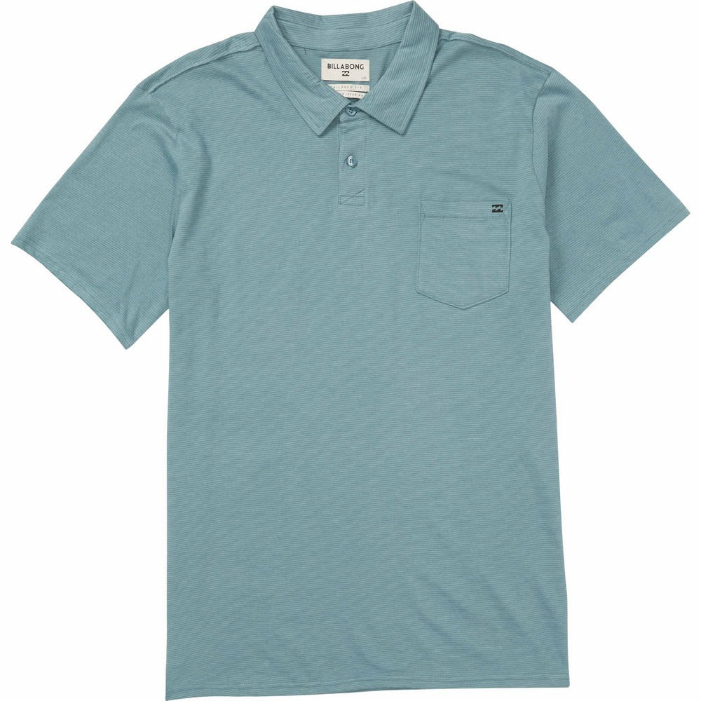 BILLABONG Guys' Standard Issue Short-Sleeve Polo Shirt - LSH-LT STEEL HTR