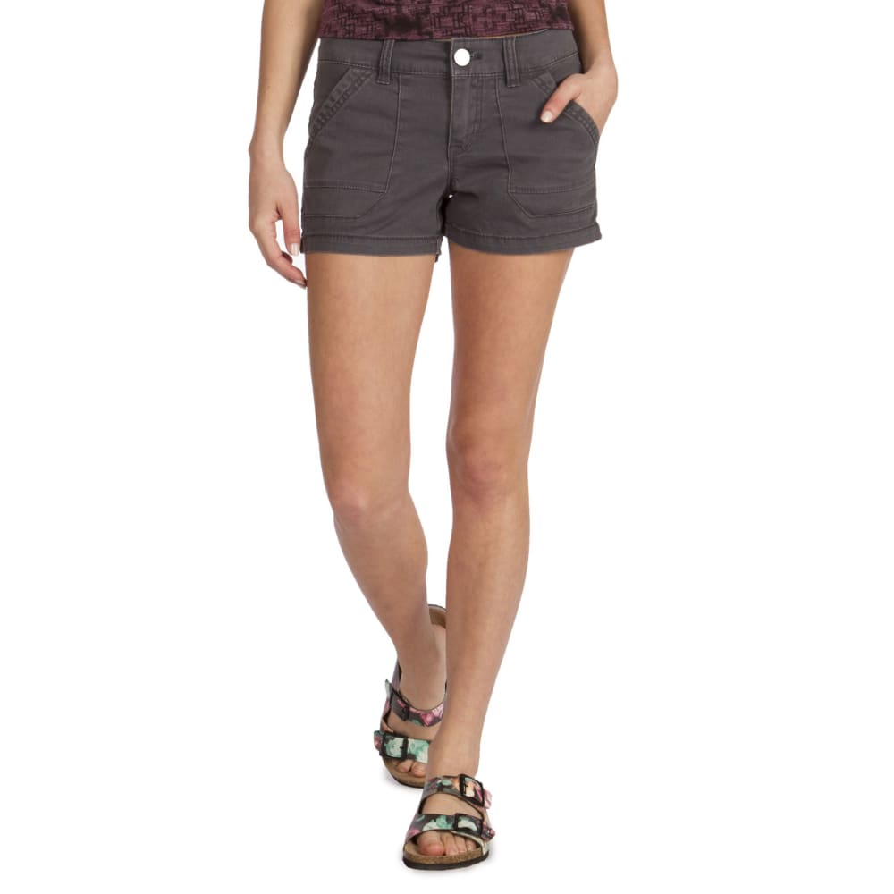 UNIONBAY Juniors' Drew Twill Porkchop Shorts - 039J-GALAXY GREY