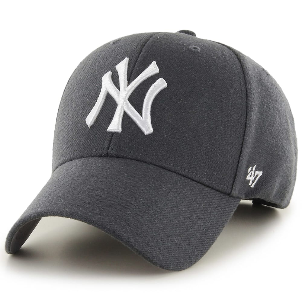 NEW YORK YANKEES Men's '47 MVP Adjustable Cap - CHARCOAL